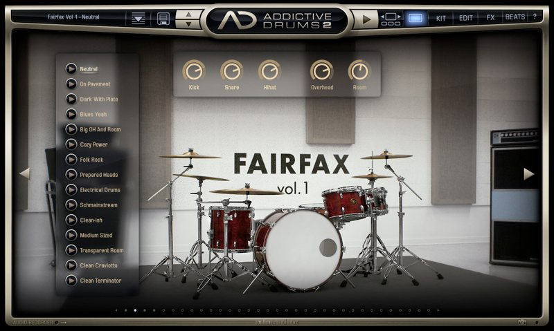 Addictive Drums 2 FAIRFAX Vol.1