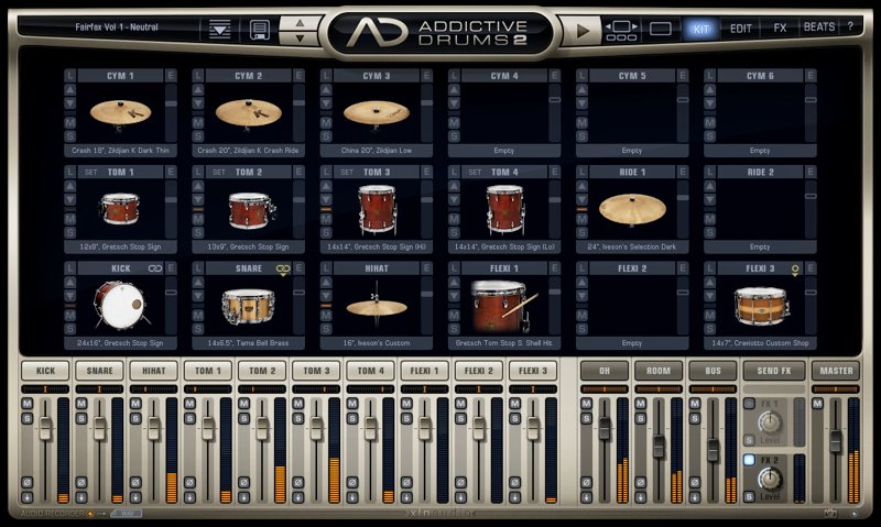 Addictive Drums 2 KITページ