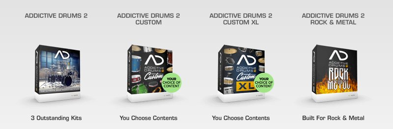 Addictive Drums 2 ラインナップ