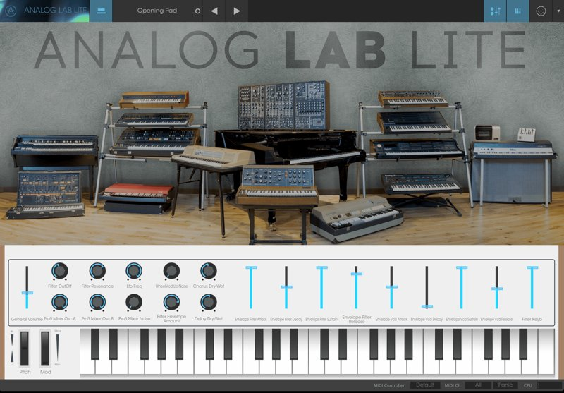 Arturia「Analog Lab Lite」