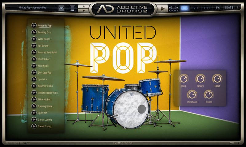 Addictive Drums 2 UNITED POP
