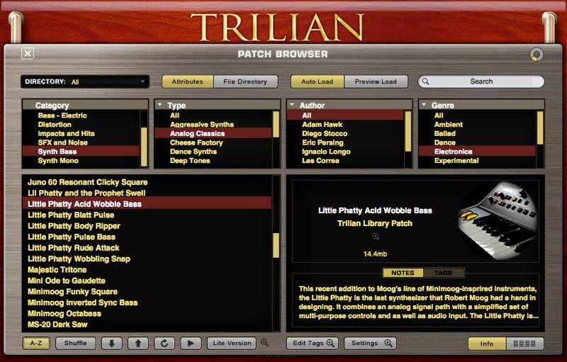 Trilian ブラウザ