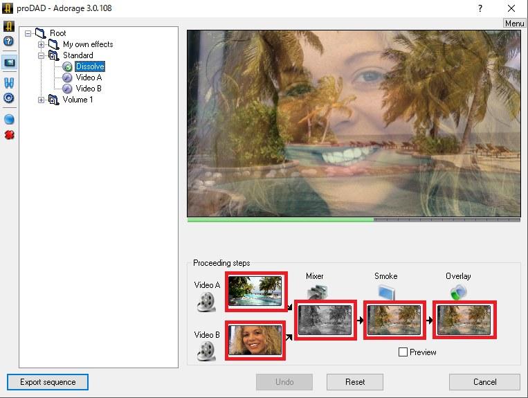 ProDAD Adorage エディット画像