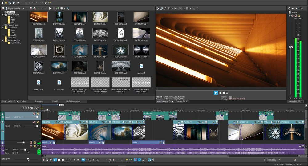 VEGAS Pro 16 メイン画像