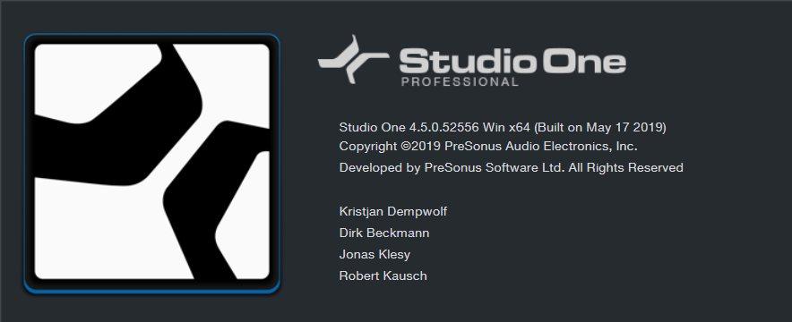 Studio One 4.5 アップデート