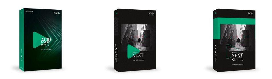 ACID Pro 9 ラインナップ