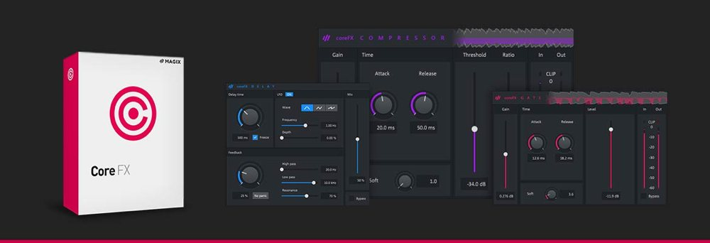 Music Maker 2020「coreFX bundles」